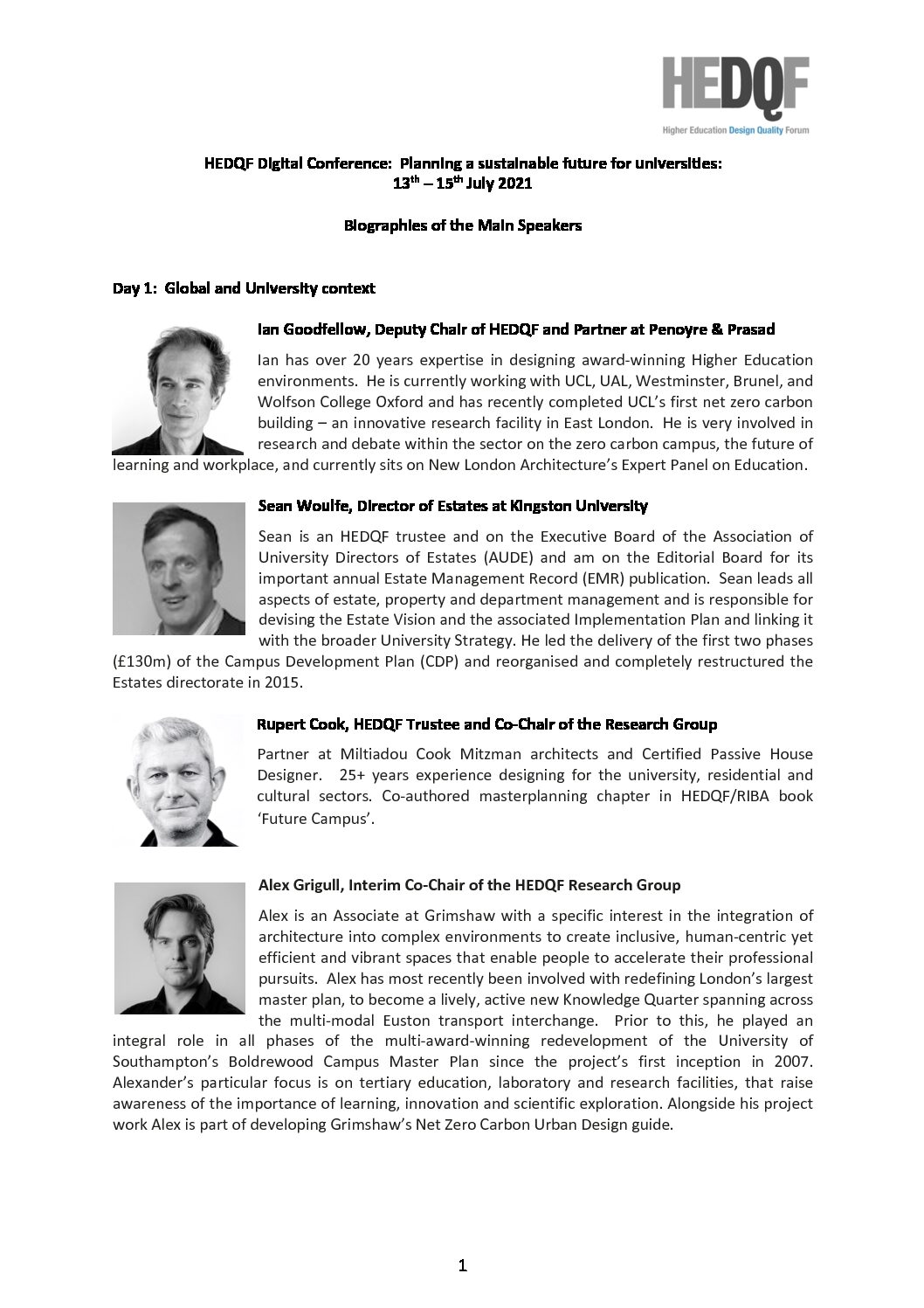 Conference 2021 – Speaker Biographies